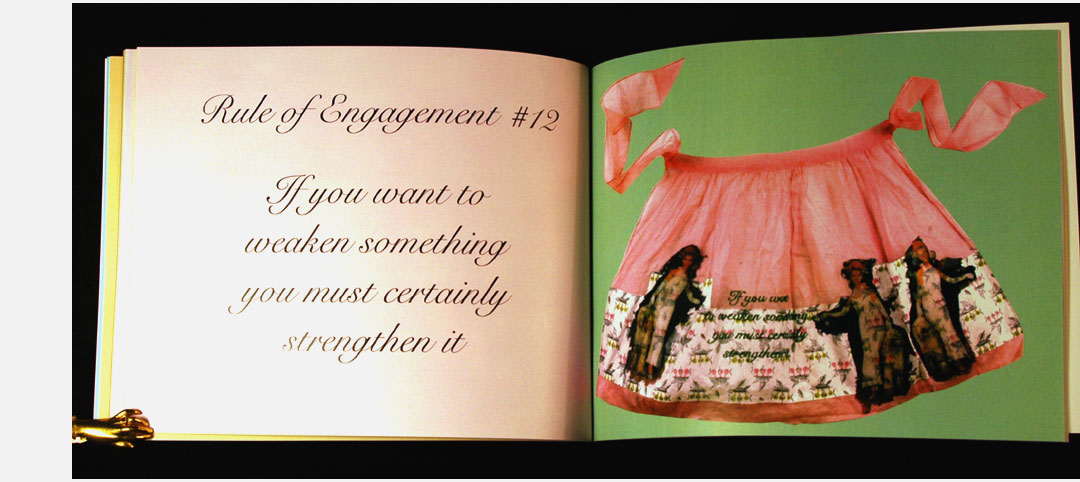 """Miriam Schaer: """"Rules of Engagement is an ongoing series of aprons that ..."""